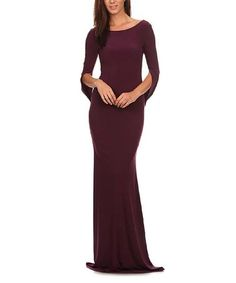 Look at this #zulilyfind! Plum Boatneck Maxi Dress #zulilyfinds