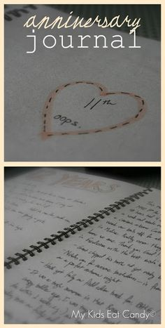Anniversary Journal...totally want to start this tradition with Justin...starting on year 1