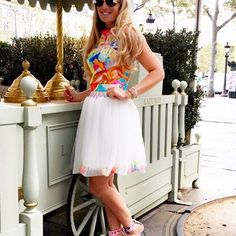 DON'T BE BASIC  Getting ready #summer  Wearing the amazing #TutuChic #mania #bdaytop  and #Dahlia #Tutu #Skirt  Available online and at #BoutiqueTutuChic