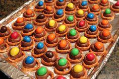 Cooking with kids - pretzel M&M twists