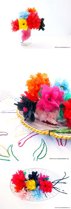 Learn how to make crepe paper flowers in 5 minutes flat - so easy and so pretty!