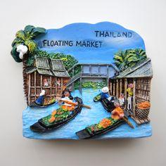 タイ旅行に行って来ました。バンコクの街中では全然見つけられなかったマグネットですが、水上マーケットで発見!本当にこんな感じでしたが、扱っている商品は完全に観光の人向けの商品でした。でも雰囲気を体験出来て楽しかった!
