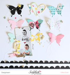 Layout *Hey Lovely* - Crate Paper *Cute Girl* - von Ulrike Dold