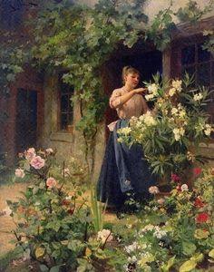 Gilbert, Victor-Gabriel (b,1847)- Gardening (2)