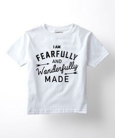 This White 'Fearfully & Wonderfully' Tee - Toddler & Kids is perfect! #zulilyfinds