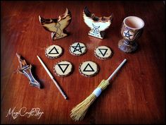 Dark Altar set portable wicca pagan - pocket - ritual spell wiccan witch magic - with wooden box by magicraftshop on Etsy https://www.etsy.com/listing/108158508/dark-altar-set-portable-wicca-pagan