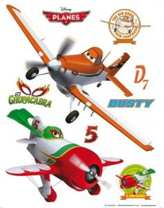 Decorazione Stickers da Muro Disney Planes Adesivi da Parete per Cameretta Bambini - TocTocShop.com -