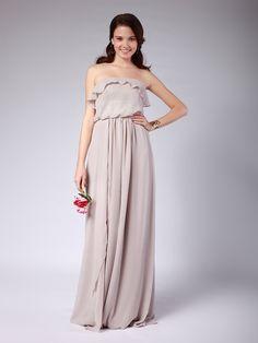 Convertible Chiffon Column Bridesmaid Dress