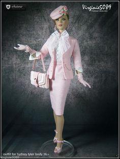 "Tenue Outfit Accessoires Chaussures Pour Tonner Doll Sydney Tyler Body 16""…"