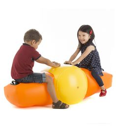 Inflatable see saw brilliant summer toy that easily packs away.