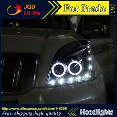 598.50$  Buy here - http://aligd8.worldwells.pw/go.php?t=32745999692 - Free shipping ! Car styling LED HID Rio LED headlights Head Lamp case for Toyota Prado Bi-Xenon Lens low beam 598.50$