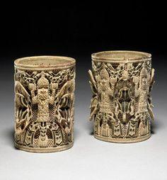 Nigeria   Carved armlets; elephant ivory   Benin City, Edo State   ca. 18th - 19th century