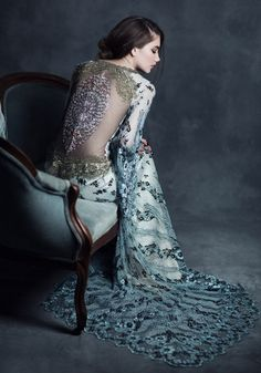 The Penny Settee — BITS & PIECES VINTAGE RENTALS LLC | Gown by Claire Pettibone for Gothic Angel Collection