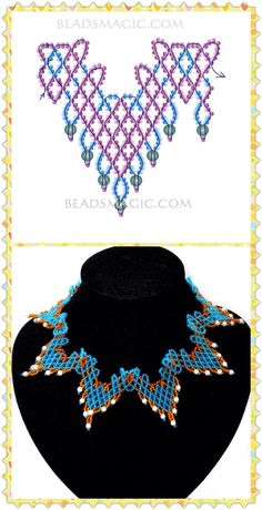 Collar Diy Necklace Patterns, Beaded Jewelry Patterns, Beading Patterns Free, Bead Loom Bracelets, Necklace Tutorial, Bead Art, Necklaces, Seed Beads, Diy Kid Jewelry