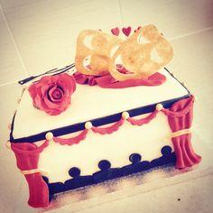 Vanilla & strawberry theatrical cake!