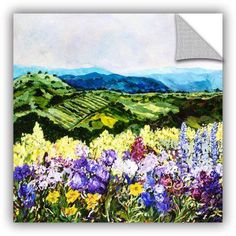 ArtAppealz Allan Friedlander Pollinator's Ravine Removable Wall Art, Size: 24 x 24, Green