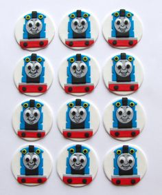 Fondant Cupcake Toppers - Thomas the Tank Engine