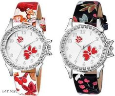 Watches Trendy Analog Women's Watches( Pack Of 2)  *Material* Leather  *Size* Free Size  *Type* Analog  *Description* It Has 2 Pieces Of Women's Watch  *Work* Stone Work  *Sizes Available* Free Size *   Catalog Rating: ★3.9 (271)  Catalog Name: Free Gift Hiba Trendy Analog Womens Watches Vol 15 CatalogID_136879 C72-SC1087 Code: 632-1110525-