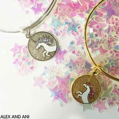 Alex and Ani Bangle. Unicorn Charm supporting Children's Miracle Network Hospital.