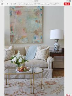 Beautiful colors in painting paired with furnishings