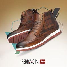 Os abotinados da linha Fluence são leves e permitem um visual despojado com conforto! O que acharam? #ferracini24h #shoes #cool #trend #boots #brasil #manshoes