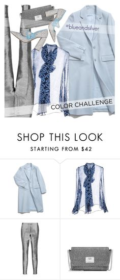 """""""#blueandsilver"""" by ansev ❤ liked on Polyvore featuring Miu Miu, Iris & Ink, Jimmy Choo and blueandsilver"""