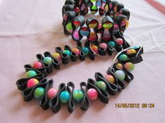 Cykelslange armbånd med perler