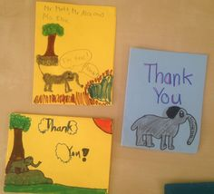 Just a little something to start your weekend off right. :) These students were grateful that Ellie the robotic elephant came to their school to teach them that circuses are NO place for elephants! #TeachKind #HumaneEducation #StudentWork #BoycottTheCircus