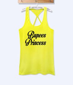 Bupees princess fitness workout tank top – workoutcloth
