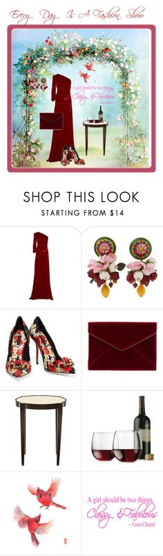 """""""Every Day Is A Fashion Show"""" by jostockton ❤ liked on Polyvore featuring Costarellos, Dolce&Gabbana, Rebecca Minkoff and Libbey"""