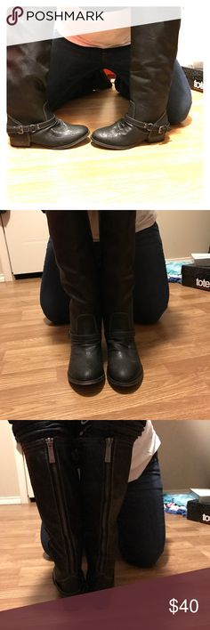 Breckelle's Black zip up boots Brand new in box never worn Black boots! Breckelles Shoes