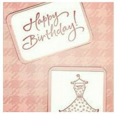Birthday card.dress theme Birthday Cards, Arts And Crafts, Dress, Signs, Home Decor, Bday Cards, Homemade Home Decor, Gowns, Craft Items