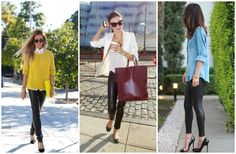 Six leather leggings outfits for fall.