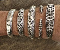 Silver Viking arm rings from The Jelling Dragon