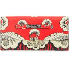 Valentino Floral-Embossed Clutch Bag (5.420 RON) ❤ liked on Polyvore featuring bags, handbags, clutches, nero ross, leather clutches, valentino purses, floral leather handbags, valentino handbags and floral handbags