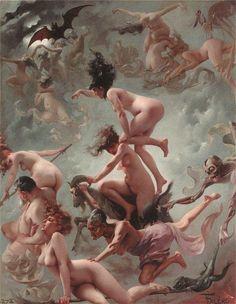 The Vision of Faust by Luis Ricardo Falero :: artmagick.com