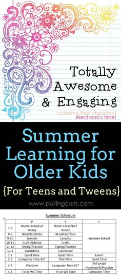 Summer learning is great when you just have small kids. If you're hoping for a summer NOT filled with electronics, see what I'm doing to create a balance in my summer program for teens.