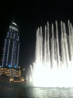 #Dubai Fountains beautiful sights and sounds in Dubai