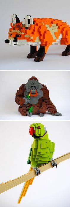 Masterfully Designed LEGO Animals by Felix Jaensch