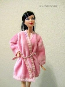 Roupão pra Barbie Tutorial εïз