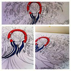 "@alessruiz's photo: ""#ocean #draw #illustration #art #design"""