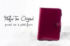 """Filofax """"The Original"""" in patent fuchsia, personal size - click through for blog post"""
