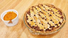 James wowed the judges on The Great Canadian Baking show with this colourful vegetarian tourtière, made with ground almond, carrots, onions and beets
