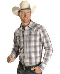 This Stetson Long Sleeve Plaid Western Shirt is a terrific choice for guys who are looking to dress to impress.