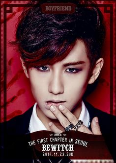 """D-20 #보이프렌드 첫 단독콘서트 """"Bewitch"""" 개인 포스터 공개-민우! [2014 Boyfriend, the first chapter in Seoul """"Bewitch""""] #WITCH"""
