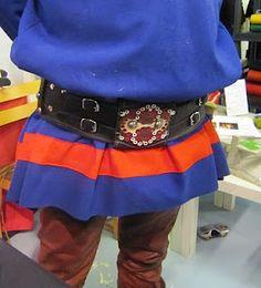Interesting closure on sami style belt