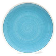 Assiette plate bleu Cyclades