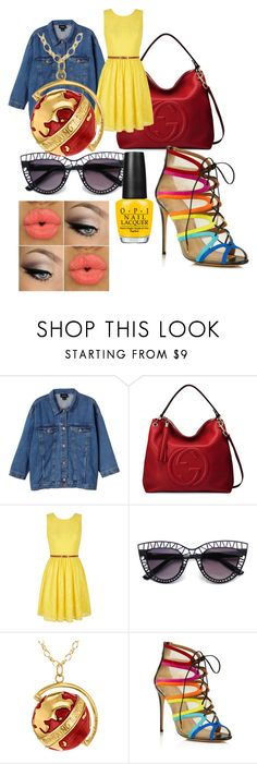 """Summer party"" by mcleod-dani on Polyvore featuring Monki, Gucci, Yumi, True Rocks and Salvatore Ferragamo"
