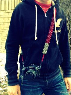 Paracord Camera Shoulder Strap by Emberkraft on Etsy