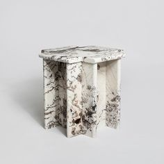 Luur Studio Ziggurat Side Table in granite via @luur_studio
